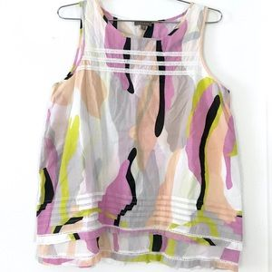 Lilla P rainbow mod swirl cotton tank top shirt